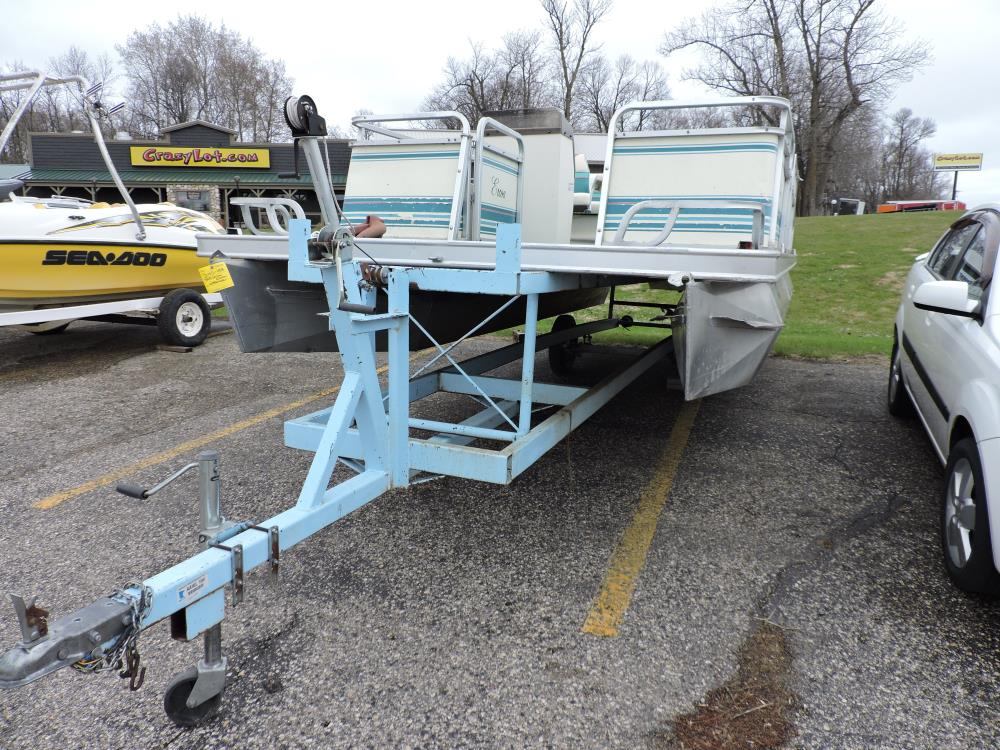 1994 Ercoa Ensign Pontoon and Beach King Boat Trailer
