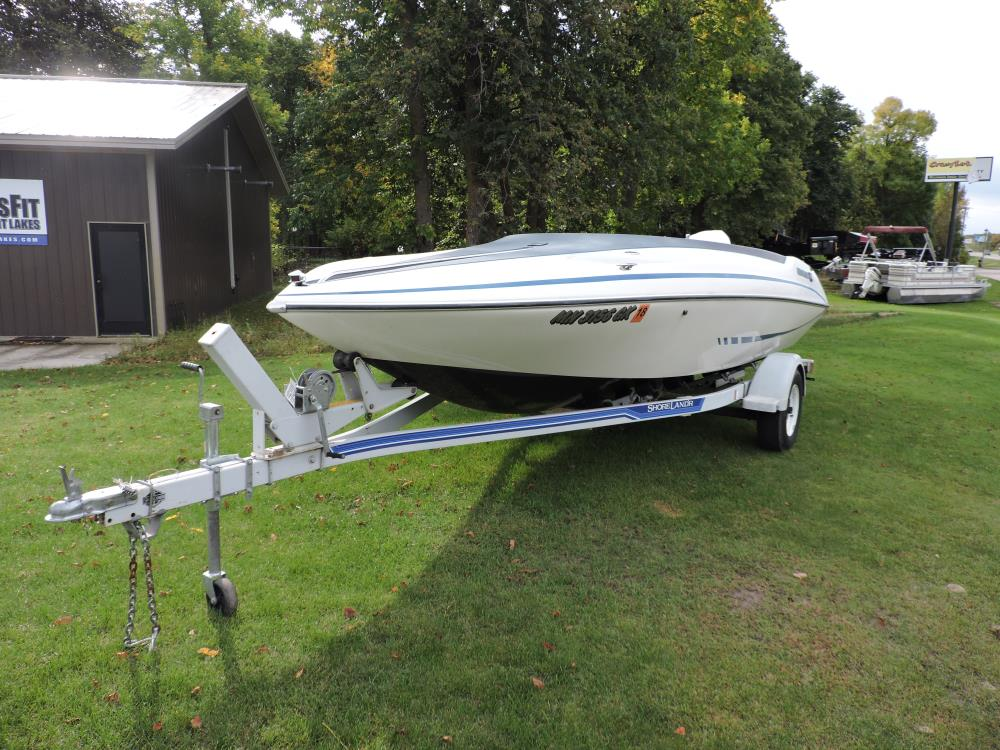 1989 Glastron boat with trailer and motor